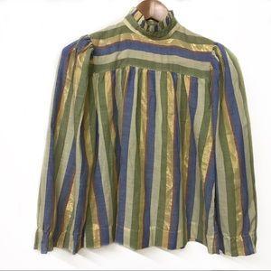 VINTAGE Fairweather Cotton blend stripped shirt